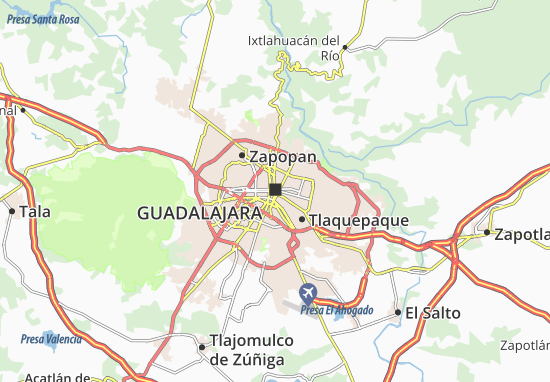 Mapa Guadalajara Plano Guadalajara Viamichelin
