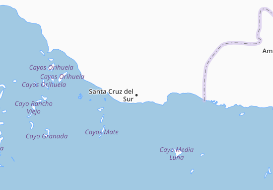 Mapa Plano Santa Cruz del Sur