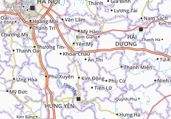 Carte-Plan Ân Thi