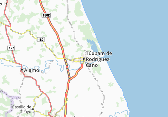 Carte-Plan Túxpam de Rodríguez Cano