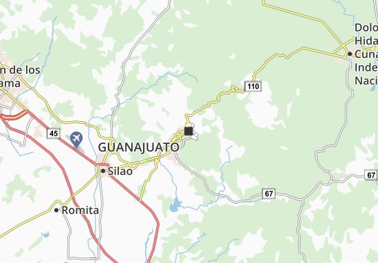 Guanajuato Map Detailed Maps For The City Of Guanajuato Viamichelin