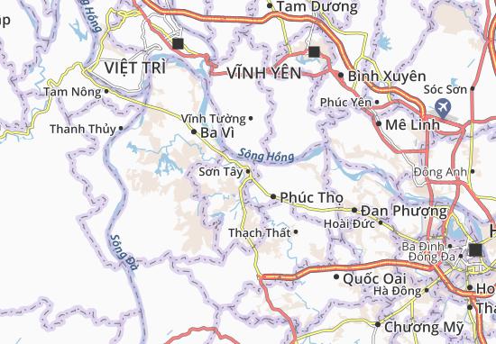 Carte-Plan Sơn Tây