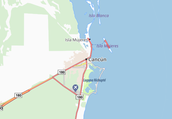 Map of Cancún - Michelin Cancún map - ViaMichelin Cancun Map on