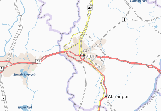 Mappe-Piantine Raipur