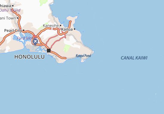 Map of Hawaii Kai Michelin Hawaii Kai map ViaMichelin – Tourist Attractions Map In Hawaii