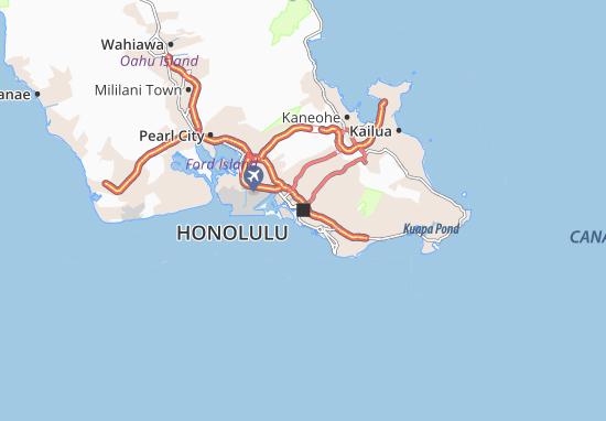 Map of Honolulu Michelin Honolulu map ViaMichelin – Honolulu Tourist Attractions Map