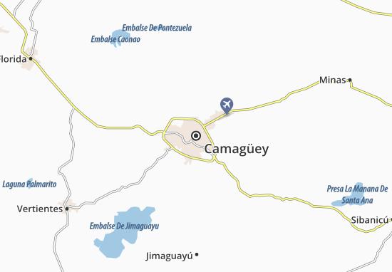 Kaart Plattegrond Camagüey