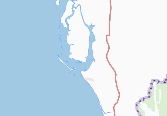 Kaart Plattegrond Coxs Bazar