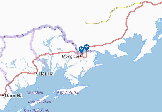 Móng Cái Map
