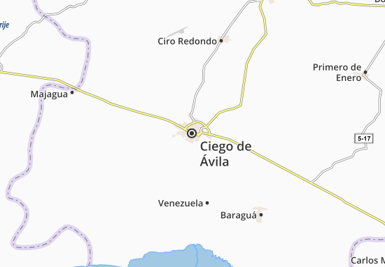 Ciego de Ávila Map