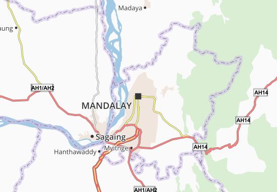 Kaart Plattegrond Mandalay