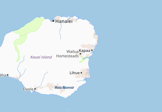 Wailua Homesteads Map