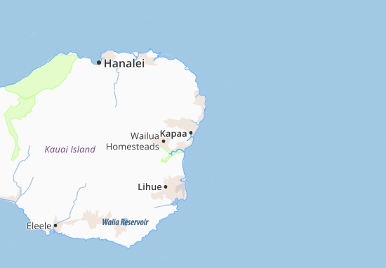 Kapaa Map