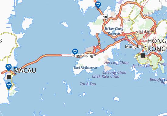 Kaart Plattegrond Sham Shek Tsuen