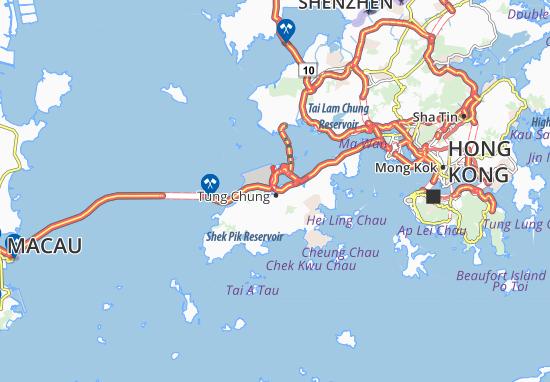 Mapa Plano Tung Chung