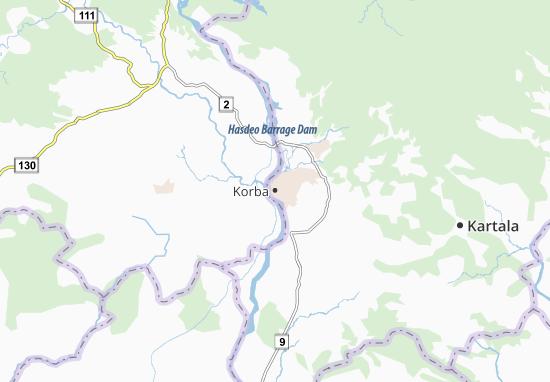 Mapa Plano Korba