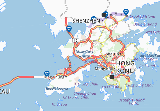 Cartina Hong Kong.Mappa Michelin So Kwun Wat Pinatina Di So Kwun Wat Viamichelin