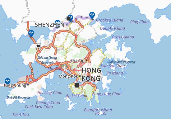 Kaart Plattegrond Sha Tin