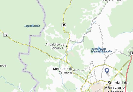 Carte-Plan Ahualulco del Sonido 13