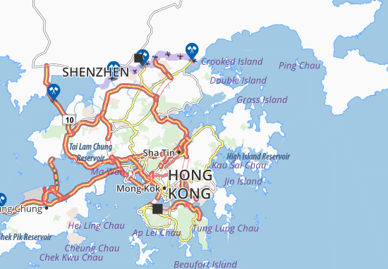 Map Of Ma On Shan Michelin Ma On Shan Map ViaMichelin - Map of ma