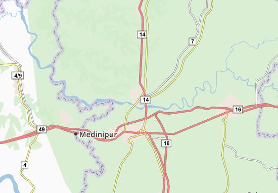 Kaart Plattegrond Midnapore