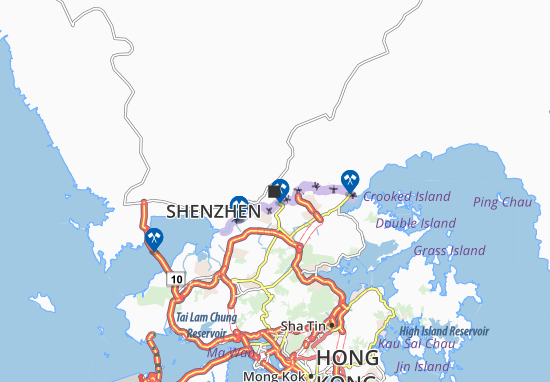 Shenzhen Map: Detailed maps for the city of Shenzhen - ViaMichelin