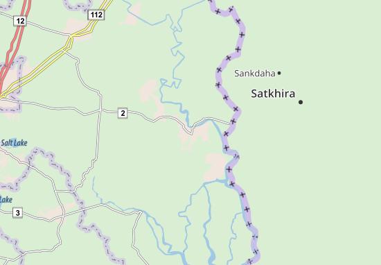Kaart Plattegrond Basirhat
