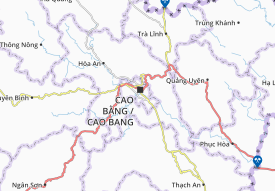 Kaart Plattegrond Hòa Chung