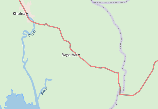 Bagerhat Map Detailed Maps For The City Of Bagerhat ViaMichelin - Map of khulna city