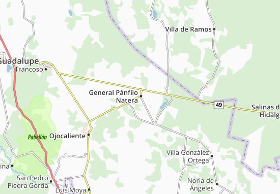 Carte-Plan General Pánfilo Natera