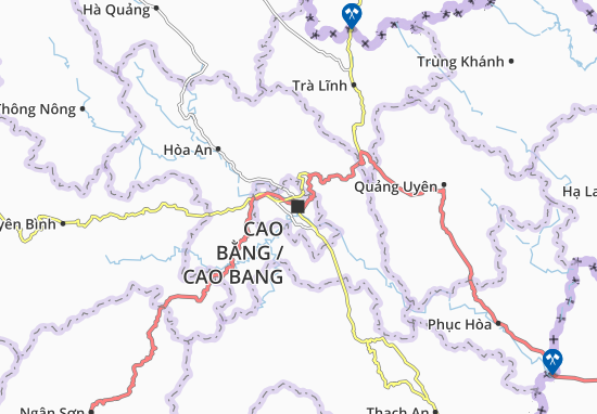 Cao Bang Map: Detailed maps for the city of Cao Bang