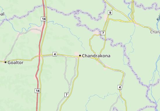 Kaart Plattegrond Chandrakona