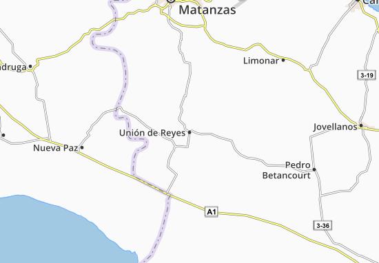Unión de Reyes Map