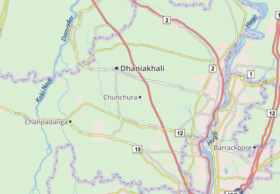 Chunchura Map