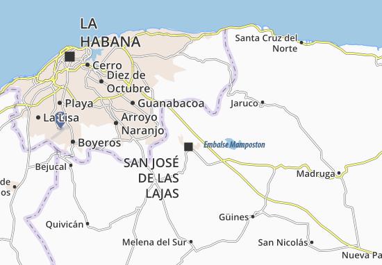 Map of La Catalina - Michelin La Catalina map - ViaMichelin Catalina Map on