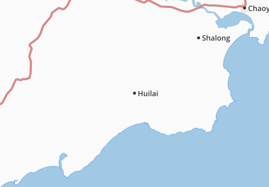 Kaart Plattegrond Huilai