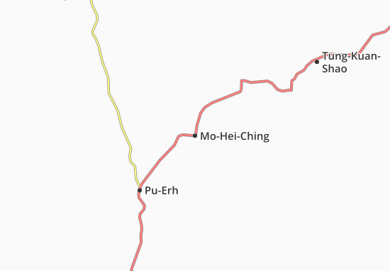 Map Of MoHeiChing Michelin MoHeiChing Map ViaMichelin - Map of mo