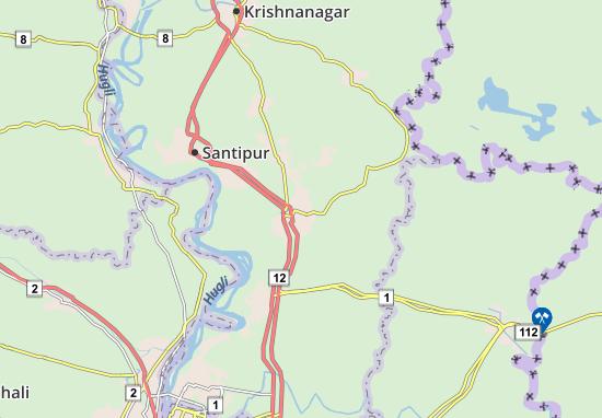 Kaart Plattegrond Ranaghat