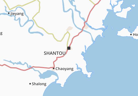Carte-Plan Shantou