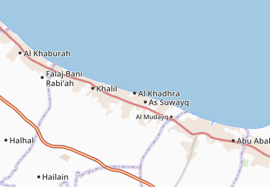 Carte-Plan Al Khadhra