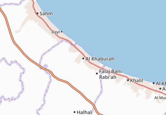 Carte-Plan Al Khaburah