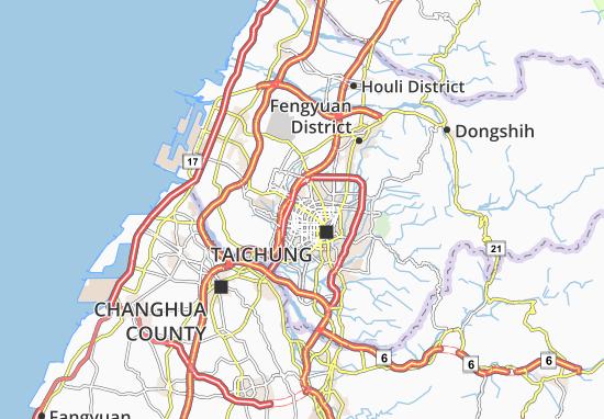 Carte-Plan Taichung
