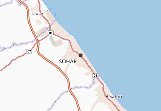 Kaart Plattegrond Sohar