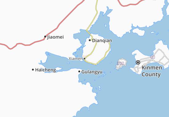 Map of Xiamen  Michelin Xiamen map  ViaMichelin