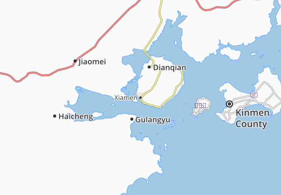 Map Of Xiamen Michelin Xiamen Map ViaMichelin - Haicheng map