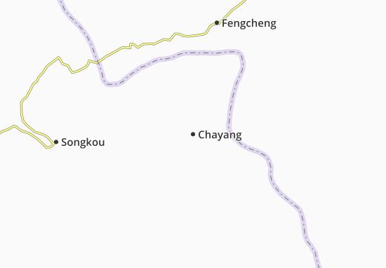 Kaart Plattegrond Chayang
