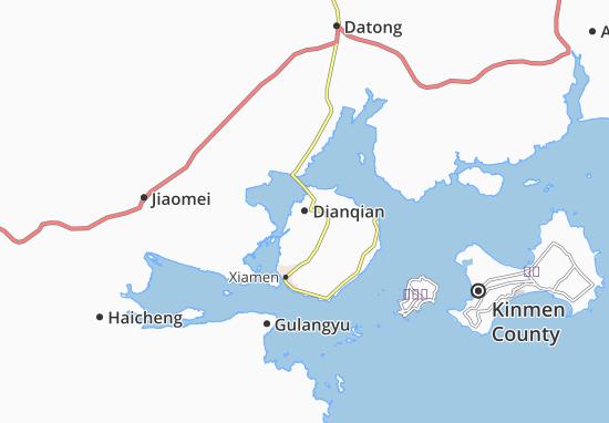 Map Of Dianqian Michelin Dianqian Map ViaMichelin - Haicheng map