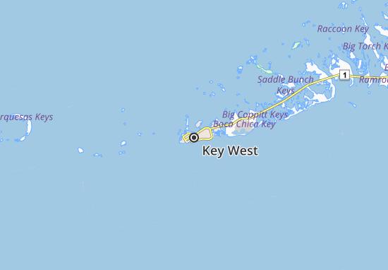 Mapa Key West  plano Key West  ViaMichelin