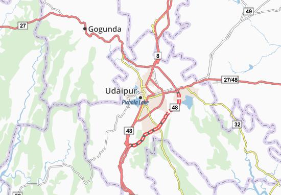 Mapas-Planos Udaipur