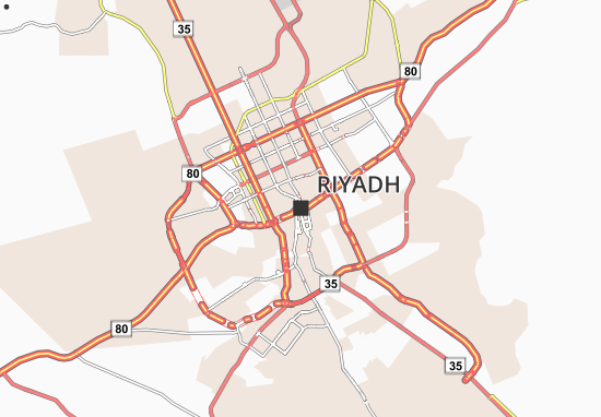 Carte-Plan Riyadh